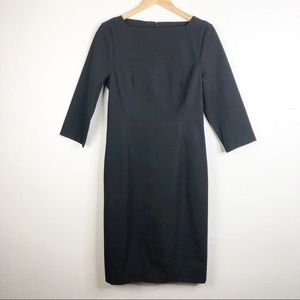 🌿 Banana Republic Black Long Sleeve Dress Formal